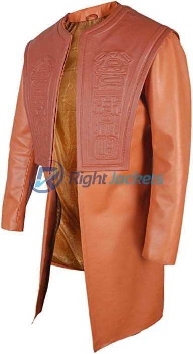 Planet of the Apes Dr. Zaius Orangutan Orinch Open Front Leather Coat