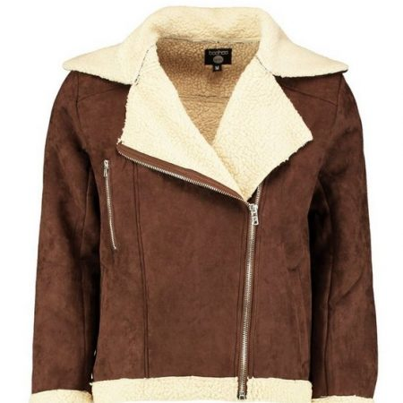 Suedette Aviator Fur Fully Borg Lined Jacket