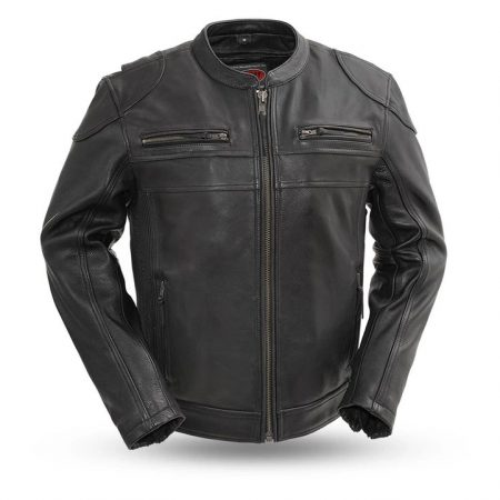 Men Nemesis Leather Motorcycle Jacket