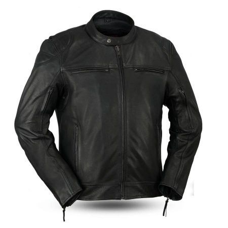 Mens Fashion Top Performer Black Leather Jacket