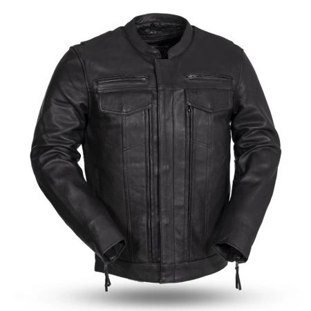 Men's The Raider Black Leather Jacket