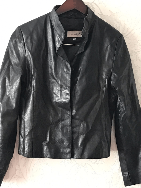 Ladies Real Leather Outer Edge Jacket